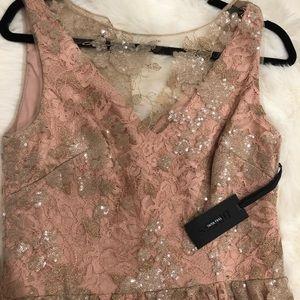 Rosegold Illusion Dress